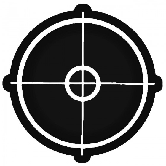 Rifle Scope Dn Decal Sticker