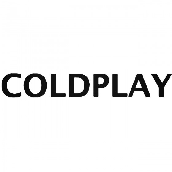 Rock Band S Coldplay Decal