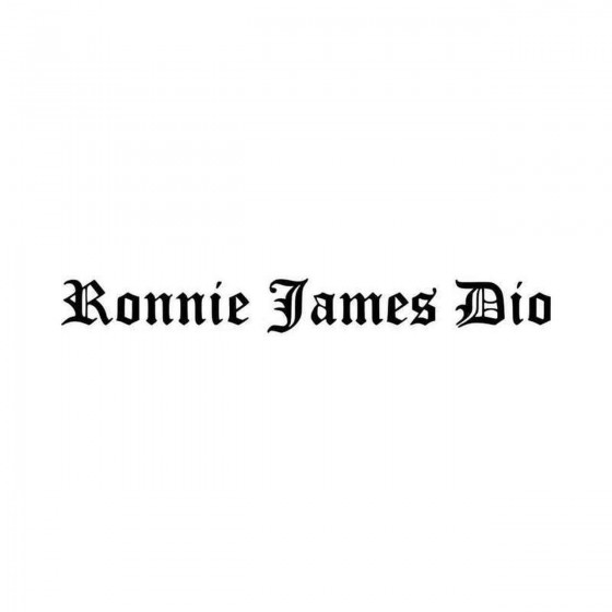 Ronnie James Dio Logo Vinyl...