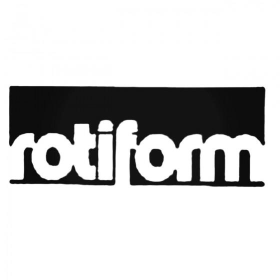 Rotiform Block Decal Sticker