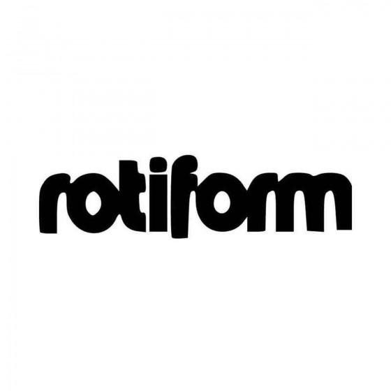 Rotiform Vinyl Decal Sticker
