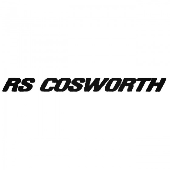 Rs Cosworth Decal Sticker