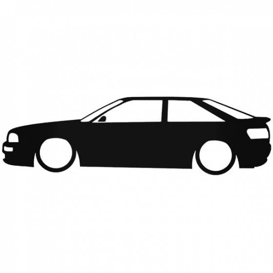 Audi 80 Coupe Low Sticker