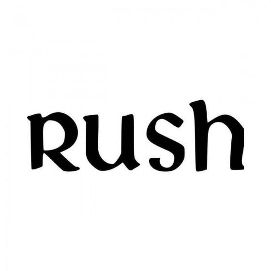 Rush New Logo Vinyl Decal...
