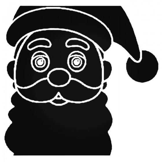 Santa Claus Face 2 Decal...