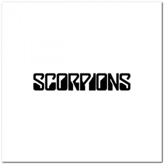 Scorpions Vinyl Decal