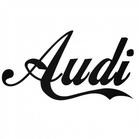 Audi Name Decal Sticker