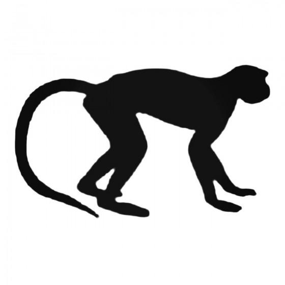 Scrawny Monkey Decal Sticker