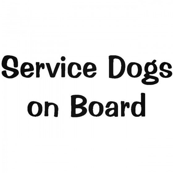 Service Dogs On Board Wall...