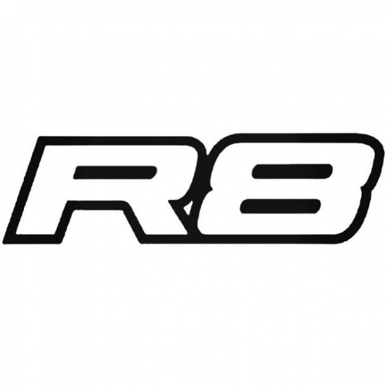 Audi R8 1 Decal Sticker