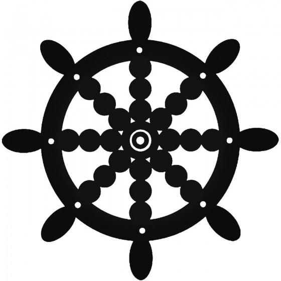 Ship Wheel 2 Vinyl Decal...