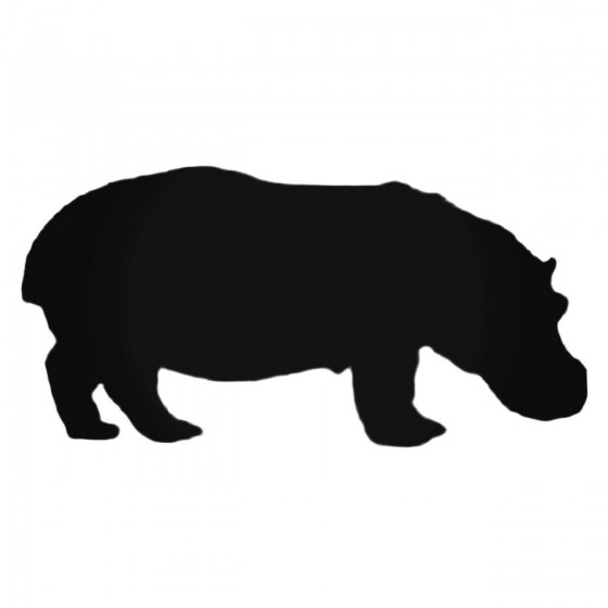 Short Hippopotamus Decal...