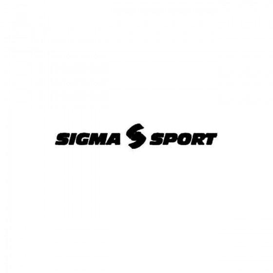 Sigma Sport Vinyl Decal