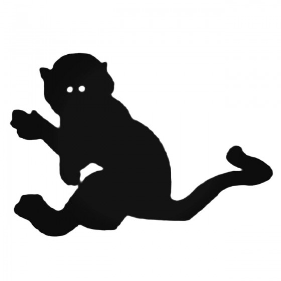 Silhouette Monkey With Long...