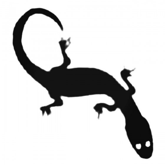 Silly Gecko Decal Sticker
