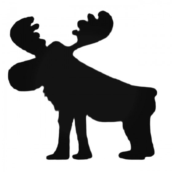 Silly Moose Decal Sticker