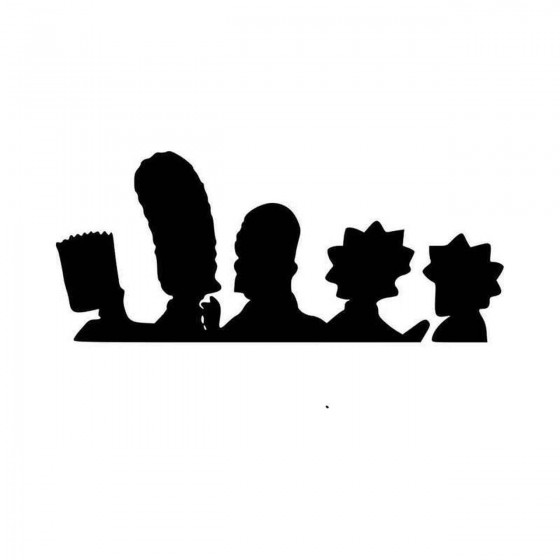 Simpsons Family Vinyl Decal...