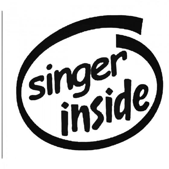 Singer Inside Decal Sticker