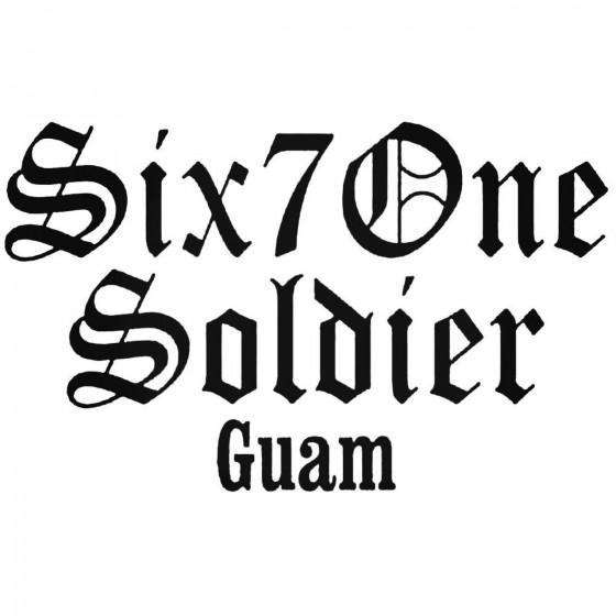 Six 7 One Soldier Guam...