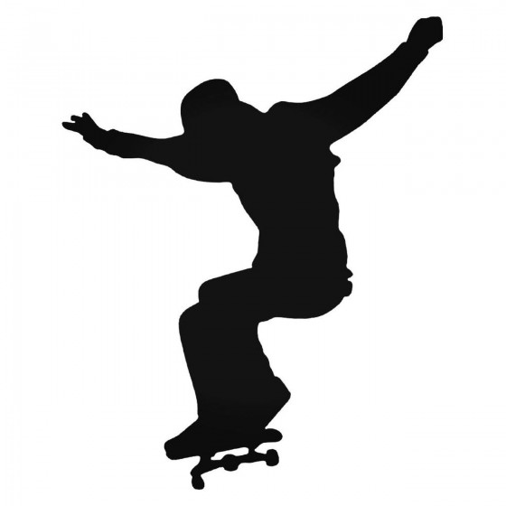 Skateboarder Flies Decal...