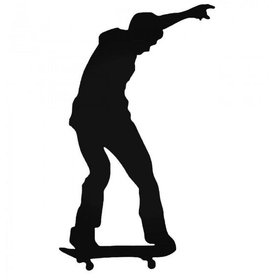 Skateboarder Keeps The...