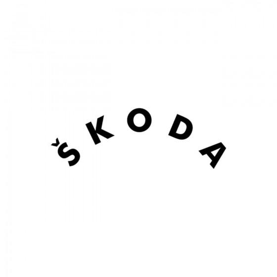 Skoda Courbe Vinyl Decal...
