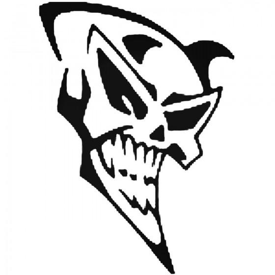 Skull 201 Decal Sticker