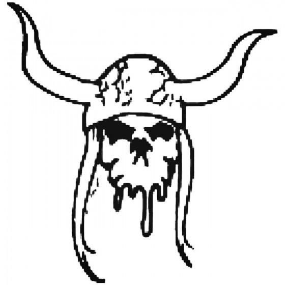 Skull 251 Decal Sticker