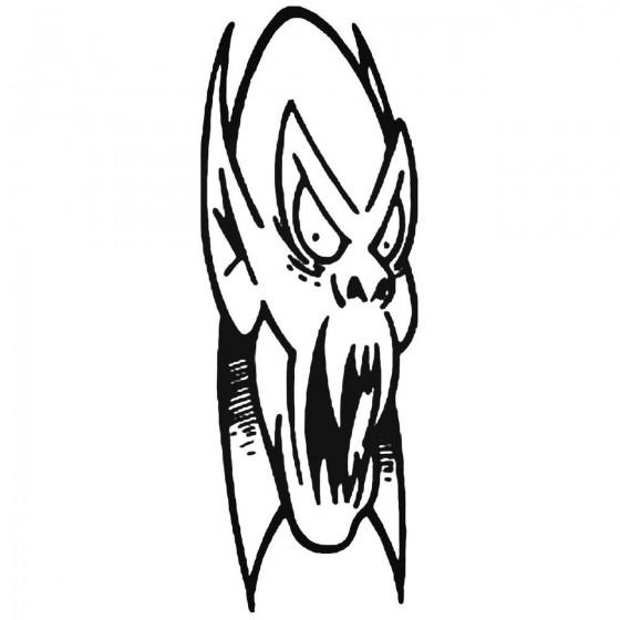 Skull 321 Decal Sticker