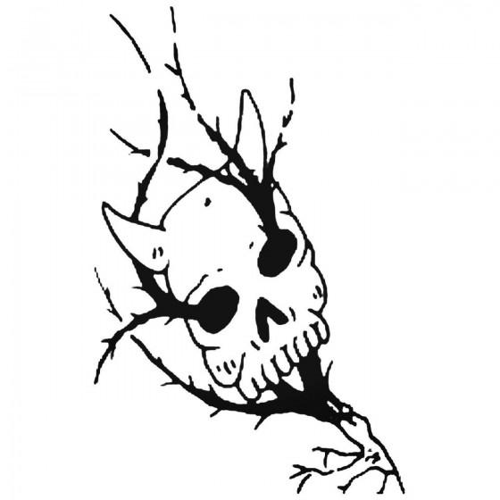 Skull 354 Decal Sticker