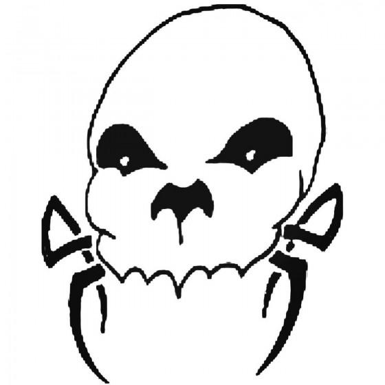 Skull 752 Decal Sticker