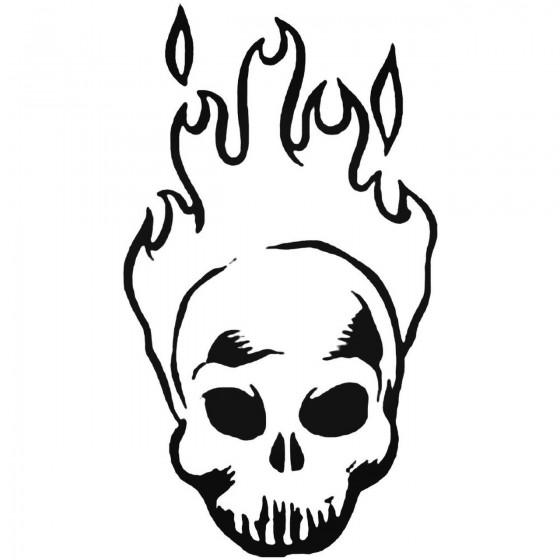 Skull Bg Decal Sticker