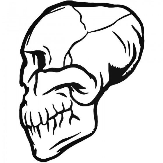 Skull Bq Decal Sticker