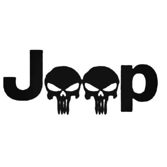 Skull Jeep S Decal Sticker