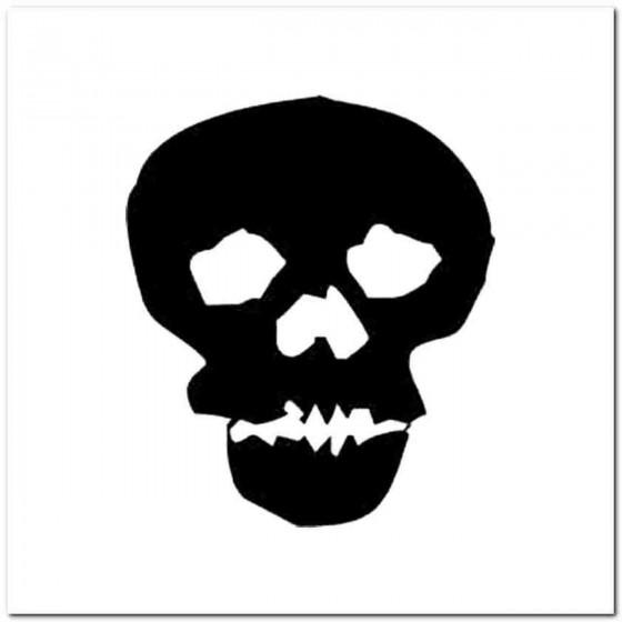 Skull O Decal Sticker