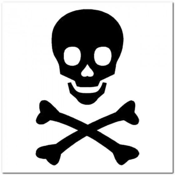 Skull Q Decal Sticker