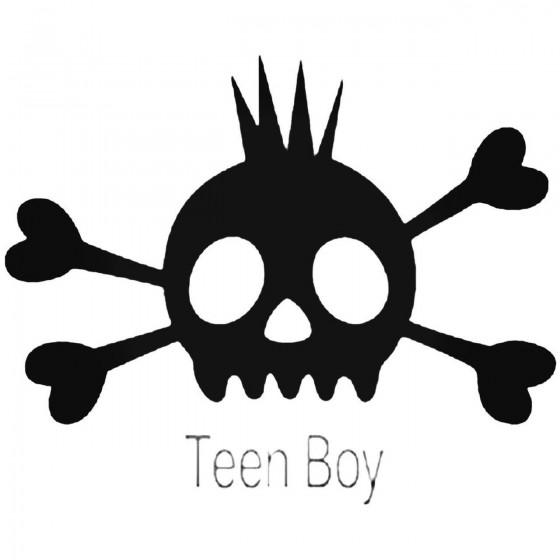 Skull Teen Boy 70 Decal...