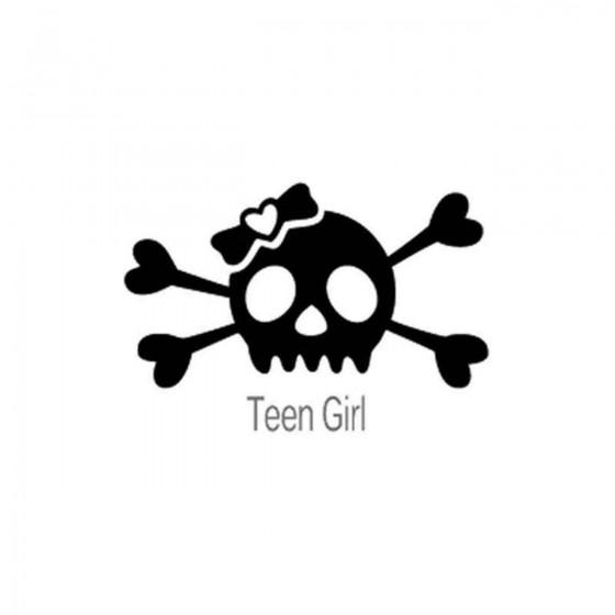 Skull Teen Girl 71 Decal