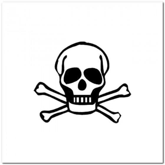 Skull U Decal Sticker