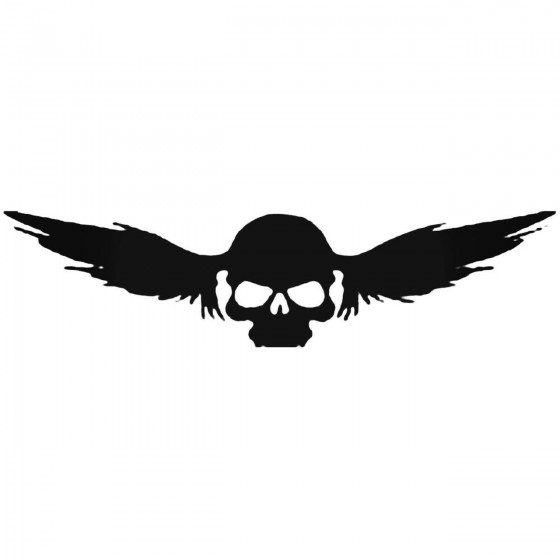 Skull With Wings B Decal...