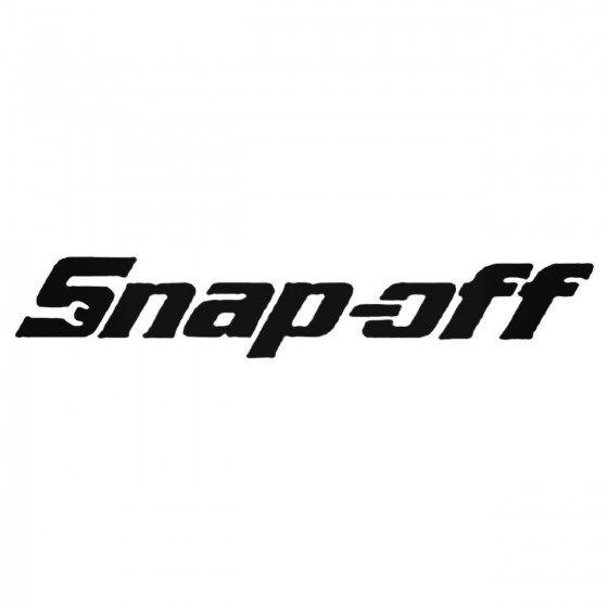 Snap Off Decal Sticker