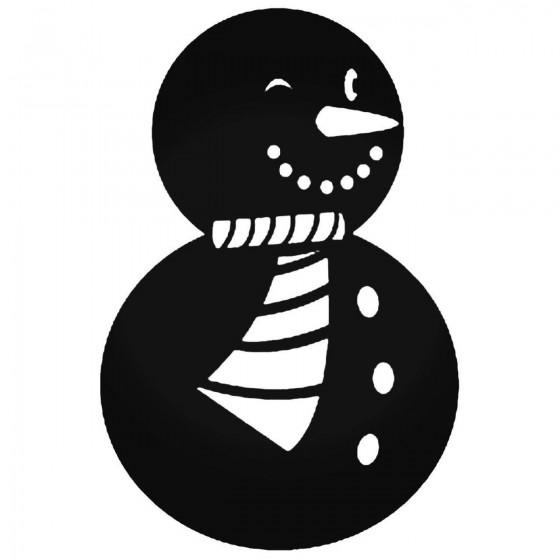 Snowman 49 Decal Sticker
