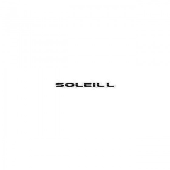 Soleil L Decal Sticker