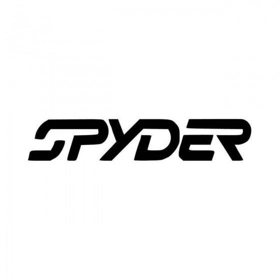 Spyder Ski Wide Vinyl Decal...