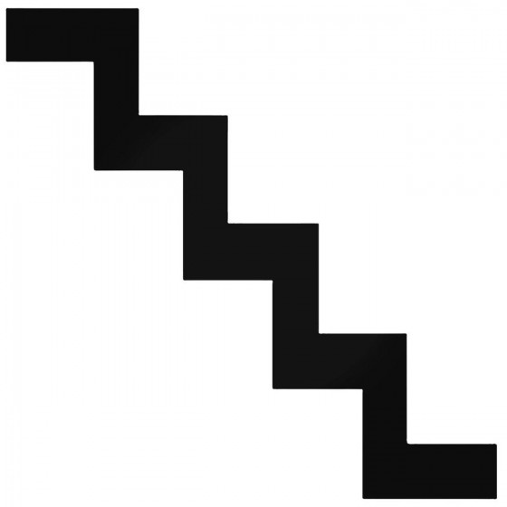Stairs Sign Symbol Decal...