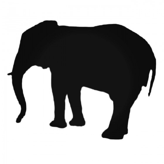 Standing Elephant Decal...