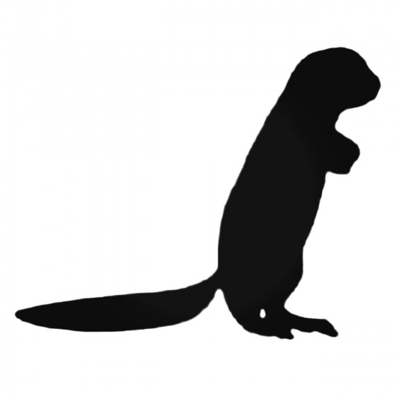 Standing Ferret Decal Sticker