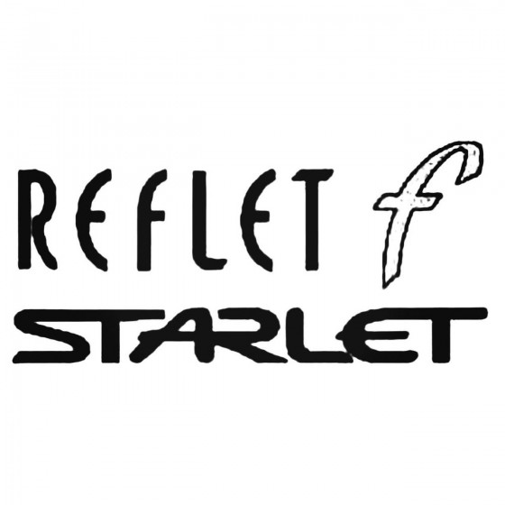 Starlet Reflet F Decal Sticker