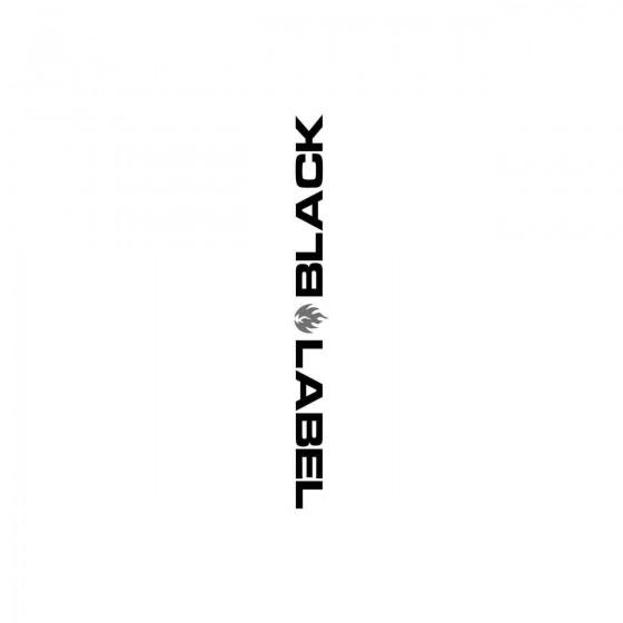 Stickers Black Label...