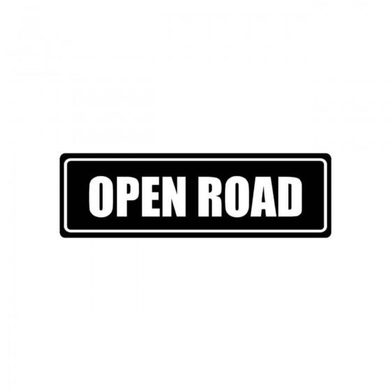 Stickers Open Road Vinyl...